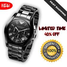 *NEW* Emporio Armani Men's AR1400 Ceramic Black Chronograph Dial Watch