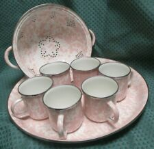 Golden Rabbit Pink Swirl Enamel Ware 8 Piece SetNew Without Tags Discontinued
