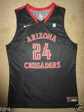 Arizona Crusaders #24 NCAA Basketball Game Worn Used Nike Jersey XL