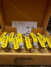 "Brass Ball Valves 3/4"" Type 600 Kitz 58-034 Box Of 10 Pcs."