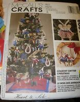 UNCUT McCalls Craft SEWING Pattern 6664 Country Christmas tree animal ornament