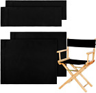 Casual Directors Chair Cover Kit Replacement Canvas Seat Stool Protector Black