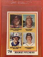 1978 TOPPS #703 ROOKIE PITCHERS -JACK MORRIS - HOF