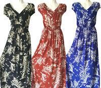 new women long maxi summer beach hawaiian Boho evening party sundress dress #18