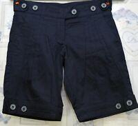 Wezc Navy Smart Shorts Size XS 6 8 UK with Pockets BNWT