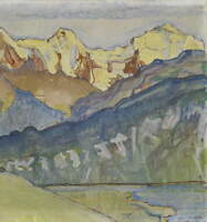 Ferdinand Hodler Eiger Monch And Jungfrau Poster Giclee Canvas Print