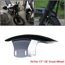"1x Motorcycle Cafe Racer 17""-18"" Front Wheel Fender Splash Mud Dust Guard Black"