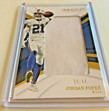 ab166e5816d8b2 2018 Panini Immaculate JORDAN POYER Jumbo Jersey Relic SSP  34 44 Sick  Swatch!
