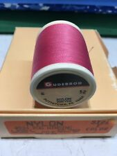 Gudebrod  Fishing Rod Winding thread Nylon  Size E,   Rose  52.  1 Spool of 1.
