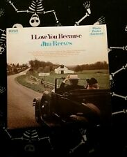 Jim reeves *** i love you because vinyl Lp **** with poster **** country music *