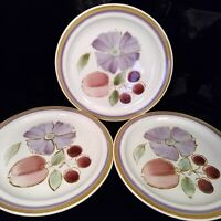 "International Stoneware ORCHID 10 3/8"" Dinner Plate Lot 3 Japan S-624 Excellent"