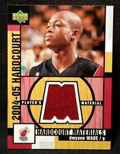 2004-05 Upper Deck DWYANE WADE JERSEY Card Hardcourt Marerials Heat Team RARE