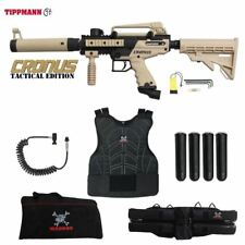 Tippmann Maddog Cronus Tactical Sergeant Paintball Gun Marker Package Tan