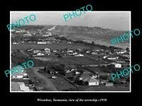 OLD LARGE HISTORIC PHOTO OF WIVENHOE TASMANIA, PANORAMA OF THE TOWN c1950