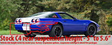 "Corvette C4 84 to 96 11"" Polyurethane Drop Kit Suspension LONGEST rear bolt Poly"