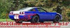 """Corvette C4 84 to 96 11"""" Polyurethane Drop Kit Suspension LONGEST rear bolt Poly"""