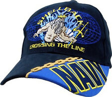 U.S. Navy Shellback Hat Crossing the Line - USN Navy Blue Baseball Cap Hat