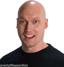 Theatrical BALD CAP Latex Skin Head Skinhead Wig Costume Flesh Adult Shaved NEW