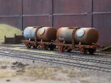 OO gauge abandoned Tankers, heavily rusted and weathered. Ref 2