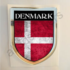 Denmark Sticker Resin Domed Stickers Flag Grunge 3D Adhesive Decal Gel Car Moto