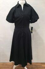 Lauren By Ralph Lauren Fit And Flare 50s Black Dress NEW $179 Size 14 {{EE}}