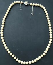 Vintage Pearl Necklace Knotted In Between Each Pearl 23'' Long