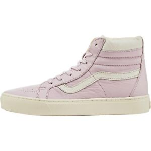 Vans Off the Wall Sk8 Hi Cup Leather Lilac Purple Snow Pink Women 8 Shoes