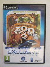 jeu ZOO TYCOON 2 + LES 4 PACKS D'EXTENSIONS L' INTEGRALE DLC pour PC FR