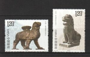P.R. OF CHINA 2017-28 CANGZHOU IRON LION & BUCHEN TEMPLE LION CAMBODIA 2 STAMPS