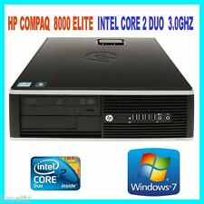 HP 8000 INTEL CORE 2 DUO E8400 3.0GHZ 4GB DDR3 160GB DVDRW WIN 7 PRO 64BIT