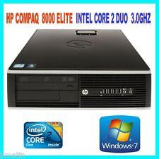 HP 8000 INTEL CORE 2 DUO E8400 3.0GHZ 4GB DDR3 160GB DVDRW WIN 7 PRO 64BIT