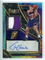 2019-20 TOM CHAMBERS 15/25 AUTO PATCH PANINI SELECT TIE-DYE AUTOGRAPHS