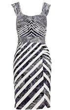 Knee Length Nylon Stripes Dresses for Women