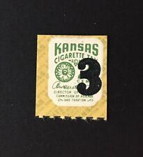Kansas State Revenue - Cigarette Tax #C89, 3 cents overprint on 2 cents green KS
