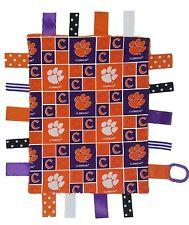 Clemson Tigers Baby Sensory Tag Lovey Blanket