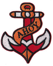 Ecusson patche Ancre Tattoo patch marine marin AHOY brodé thermocollant