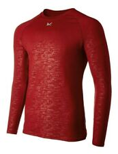 Mission Men's VaporActive Base Layer Long Sleeve Top,Brick Red,brand new