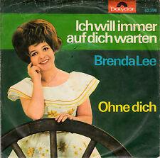 """BRENDA LEE -  Ich will immer auf dich warten > 7"""" Single Vinyl ,Original"""