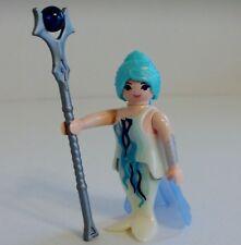 E13.1 Playmobil chapeau blanc plume bleue dame 1900 série rose 5300