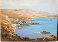 Julia Nichols, listed ME artist, vintage oil/board 12 x 16