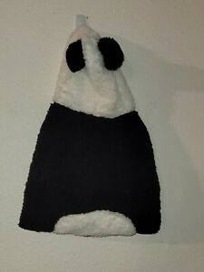 Top Paw Panda Black White Fleece Hoodie Dog Coat Jacket Large L New NWT
