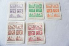 More details for 1940 stamp centenary exhibition stamp sheets x5 unused vgc