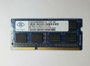 NANYA 1X4GB 4GB NT4GC64B8HB0NS-CG DDR3 4GB 2Rx8 PC3 10600S Laptop Ram Memory