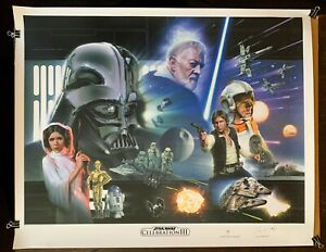 "Star Wars, Jerry Vanderstelt Signed Art Print, Celebration III, New Hope 24""x30"""