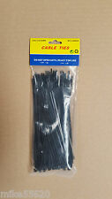 100 Pcs CABLE TIES 160mm x 2.5mm NYLON 66  BLACK UL 94V.2