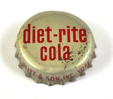 VINTAGE Diet Rite Cola tappo bottiglia USA Soda guarnizione sughero