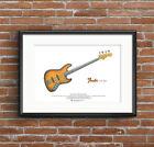 Jaco Pastorius 1962 Fender Jazz Bass of Doom ART POSTER A3 size