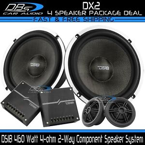 """DS18 DX2 2-Way Component Speaker System 460W 4-ohm 6.5"""" + Tweeters + Crossovers"""