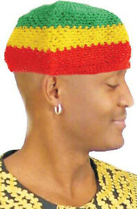 Rasta Color Knitted Kufi Cap (G-Y-R)