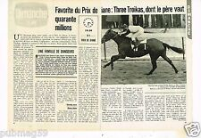 Coupure de presse Clipping 1979 (2 pages) Prix de Diane Three Troikas